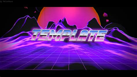 Free Vaporwave Blender Intro Template!   (Only Blender