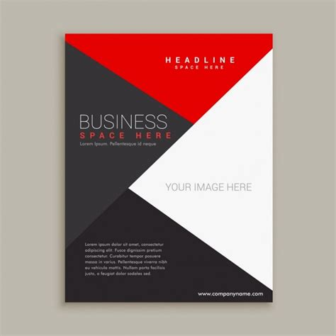 plain brochure template simple modern brochure with triangles vector free