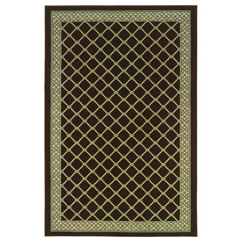 Natco Area Rugs Natco Stratford Bedford Brown 5 Ft X 7 Ft 7 In Area Rug
