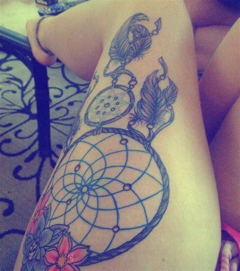 tattoo dreamcatcher thigh 30 amazing leg and thigh tattoos