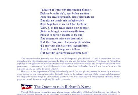 Richard Iii Essay by College Essays College Application Essays Richard Iii Essay Topics