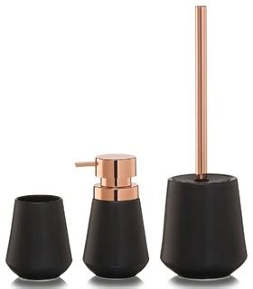 copper bathroom accessories sets 3 piece bathroom accessories set sealskin conical copper