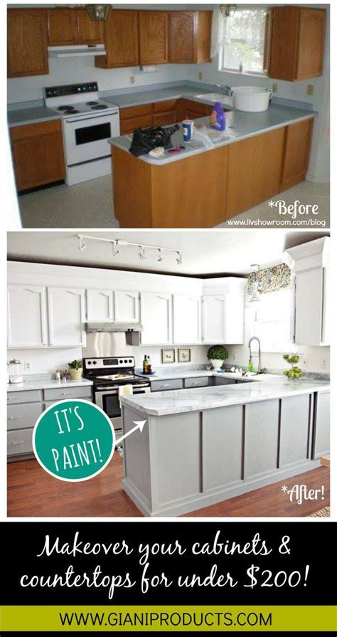 Budget Kitchen Countertops by Kitchen Update On A Budget Paint That Looks Like Granite