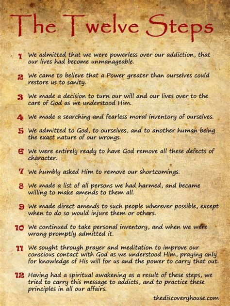 printable version of aa 12 steps 1000 images about na recovery on pinterest serenity