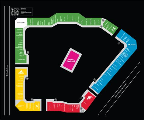 outlet mall map complete list of stores located at allen premium outlets