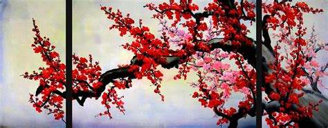 Cherry Decorations For Home by Asian Painting Asian Wall Art Asian Artwork