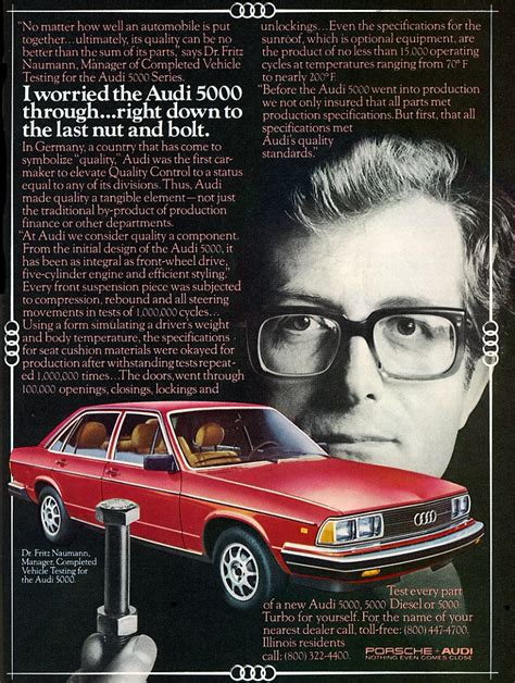 audi ads model year madness 10 classic ads from 1981 the daily