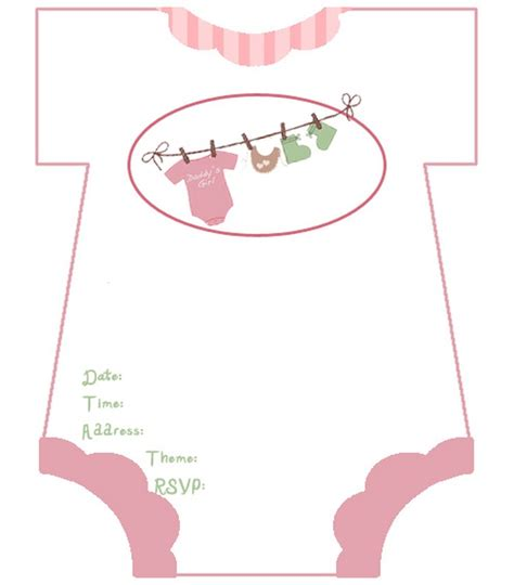Baby Shower Card Template by Baby Shower Invitations Free Template Invitations