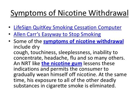 Signs Of Detoxing From Nicotine by Do Nicotine Replacement Therapies Work
