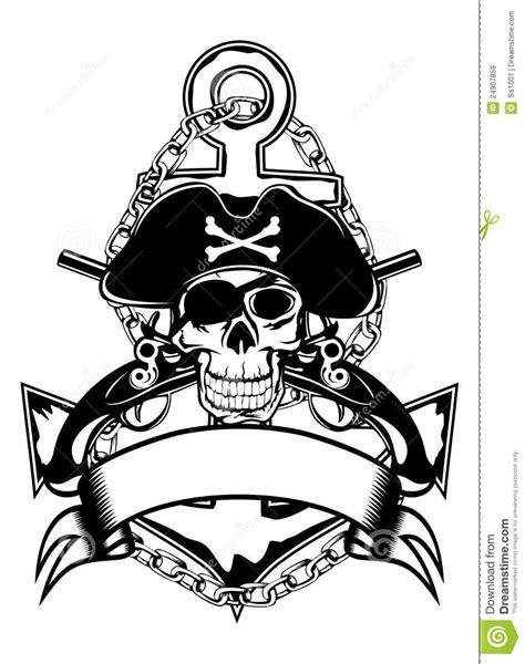 Anchor And Skull Royalty Free Stock Photos - Image: 24907858