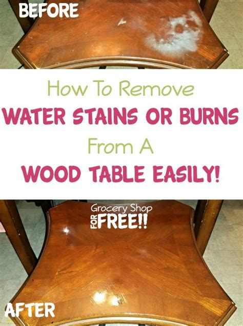 How To Remove Water Stains From by How To Remove Water Stains Or Burns From A Wood Table Easily