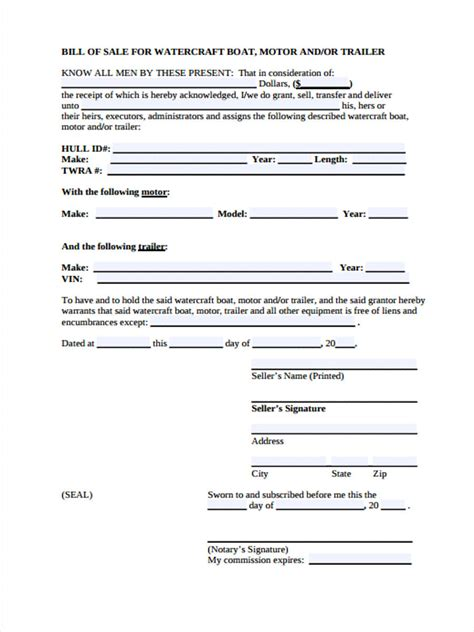 boat bill of sale images 30 sle bill of sale forms