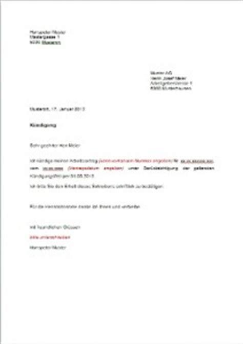 Brief Kv Schweiz K 252 Ndigung Vorlage Arbeitsvertrag Schweiz Muster Und Vorlagen Kostenlos