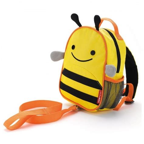 Skip Hop Mini Backpack With Rein Monkey T2909 1 skip hop zoolet child toddler reins animal backpack in one bee owl monkey ebay