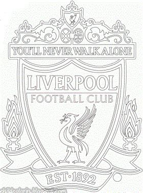 Emblem Of Liverpool Fc Coloring Liverpool Colouring Pages