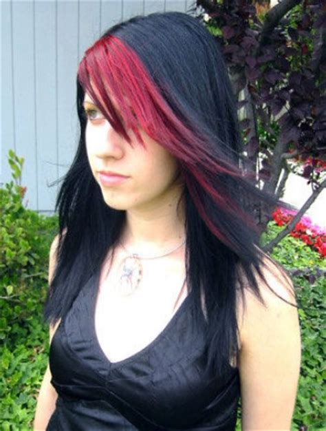 emo hairstyles with red highlights popular emo hairstyles for long hair emo hairstyles red