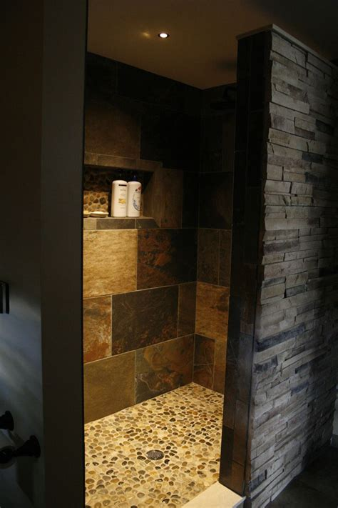 Open Shower Small Bathroom Best 25 Open Showers Ideas On Shower Niche Shower Designs And Open Style Showers