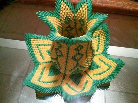 Origami 3d Vase Tutorial - 3d origami vase lotus akvees