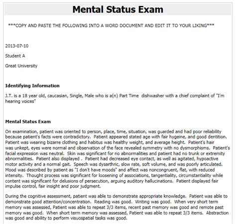 sle m e report mental status examination report sle 28 images mental