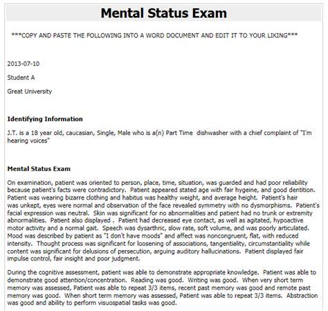 mental status examination sle report mental status examination sle report 28 images 100 sle