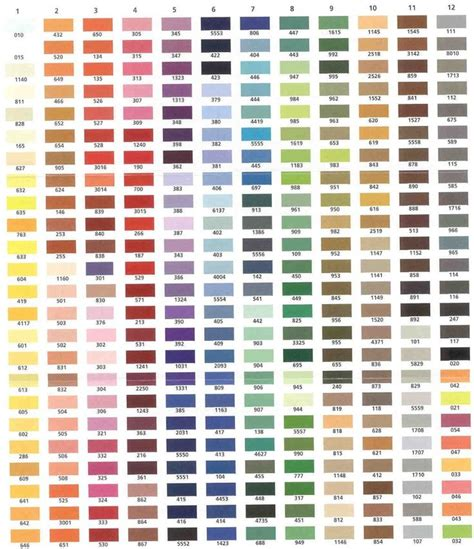 np1 color chart k l 1000 images about thread colors on embroidery