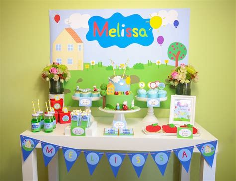 printable peppa pig party decorations peppa pig themed birthday party via kara s party ideas