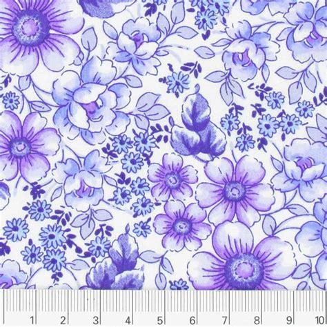 tessuto a fiori tessuto percalle cotone a fiori viola x10cm perles