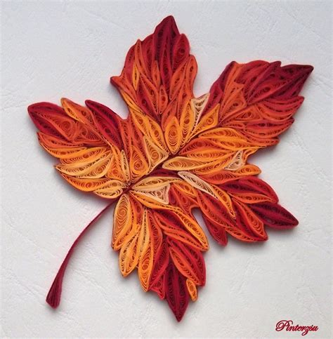 leaf pattern quilling autumn leaves by pinterzsu on deviantart quilling