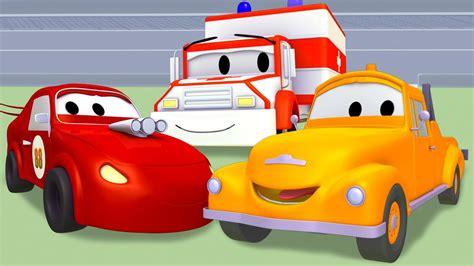 tom  tow truck  ambulance fire truck racing car