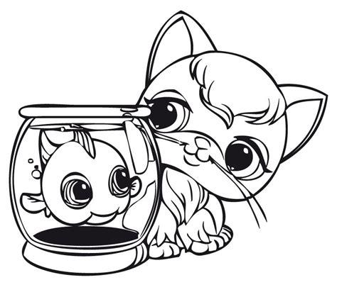 coloring page pet store pet shop coloring pages printable series littlest pet