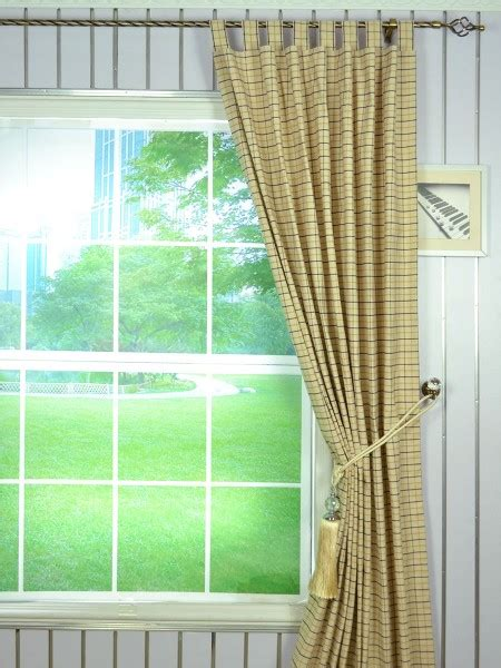 plaid tab top curtains extra wide hudson small plaid tab top curtains 100 inch