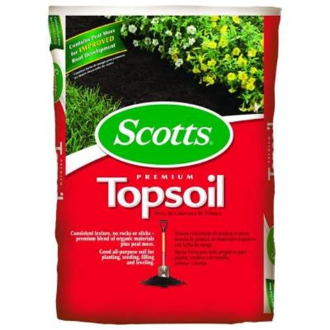 scotts 0 75 cu ft premium topsoil