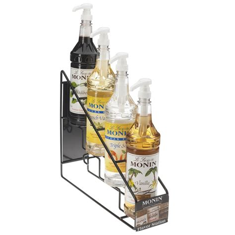 Coffee Syrup Rack by Monin 4 Bottle Wire Rack S Baristaproshop