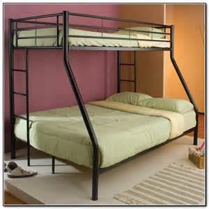 Metal bunk beds twin over queen beds home furniture design