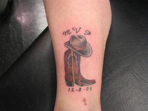 cowboy boots tattoo designs 27 best western ink images on ideas