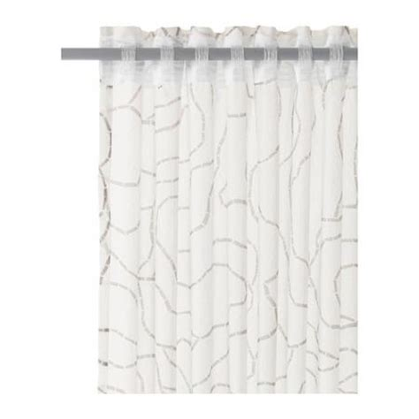 ikea white curtain panels ikea ferle 2 panels curtains 57 x 98 window drapes white