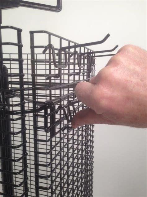 rotating slat grid mesh stand wire displays wire displays