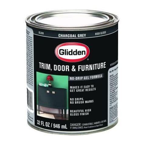 front door paint glidden 1 qt charcoal grey gloss interior exterior paint gl 309 04 at the