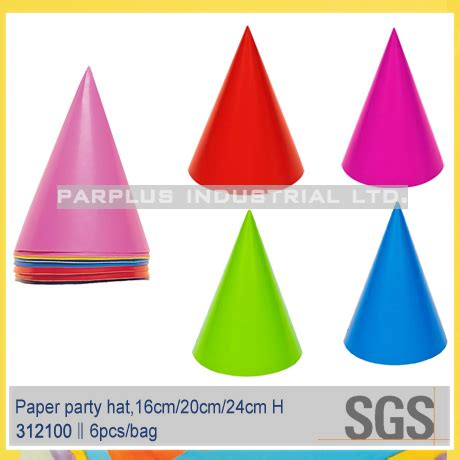 How To Make Paper Cone Hats - paper solid color cone hat buy hat solid