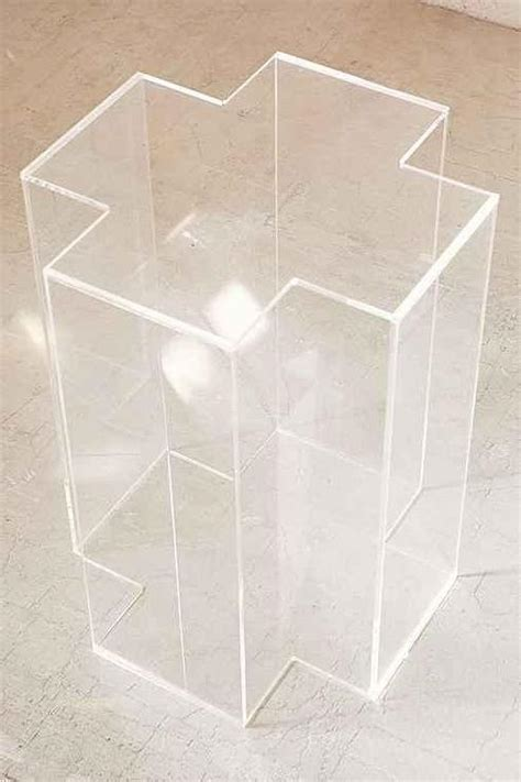 clear acrylic side table clear acrylic cross side table