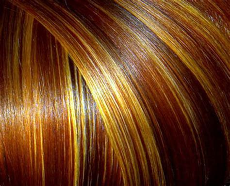 color placement red brown multi colored hair