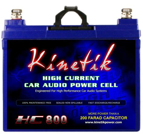 kinetic capacitor car audio kinetik khc800 800w 12 volt power cell at onlinecarstereo