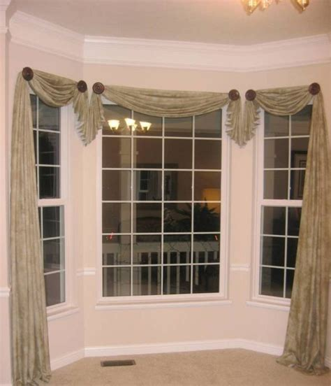 kitchen bay window curtain ideas 17 best ideas about window scarf on curtain