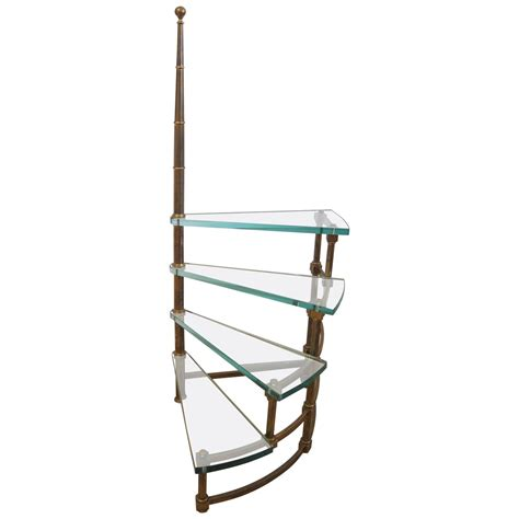 library ladders glass and brass library ladder at 1stdibs