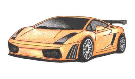 Lamborghini Gallardo Drawings How To Draw A Lamborghini Gallardo Car