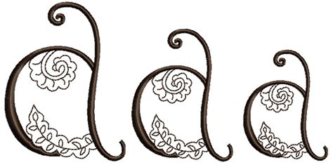 henna design letters mehndi style font letter a