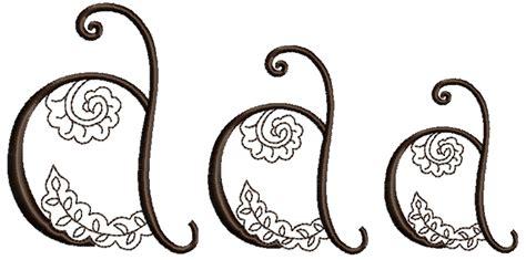 henna design font mehndi style font letter a