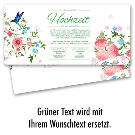 Einladung Hochzeit Bestellen by Hochzeitseinladungen Mit Blumenmotiv Bestellen