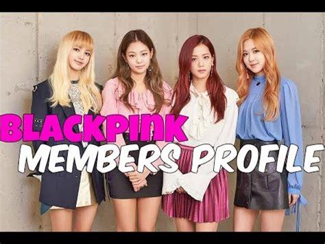 blackpink member biodata blackpink members profile 2016 sacroskpop youtube