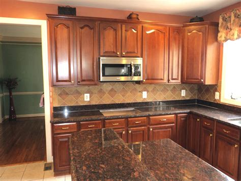 Kitchen Cabinets Warehouse by L Chopra Tan Brown Granite Kitchen Countertop Granix